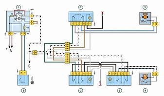 Схема электростеклоподъёмников