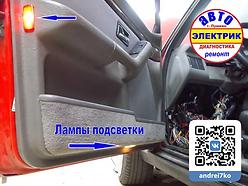 AUDI подсветка водительской двери.webp