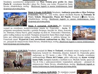 Pilegrzymka do Italii 08-14 września 2019