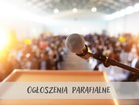 Ogłoszenia parafialne 26.09.2021
