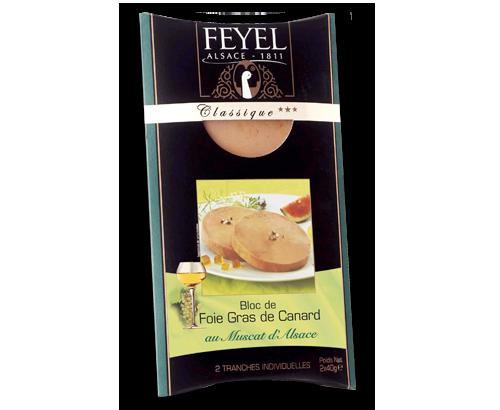Médaillon de foie gras cuit de canard FEYEL