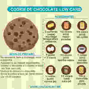 receita de cookie de chocolate low carb