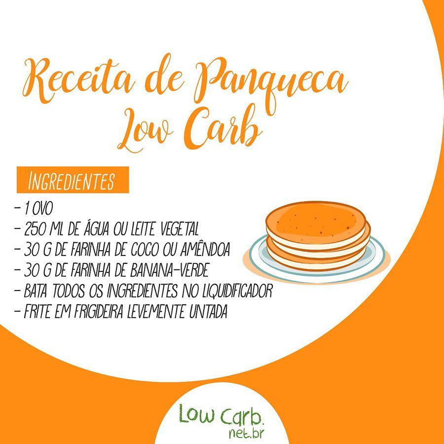 Receita de Panqueca Low Carb