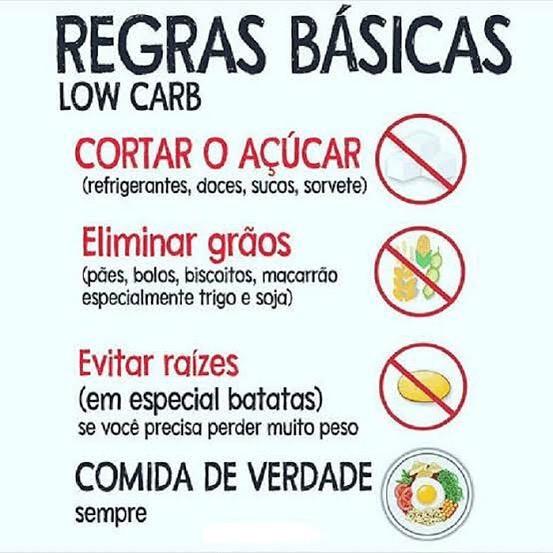 regras low carb
