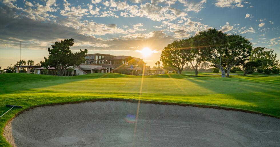 Newport Beach Country club golf hole sun