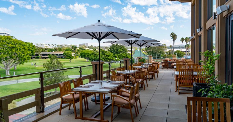 Newport Beach Country club dining patio