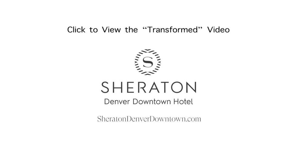 Marriott Sheraton Denver Colorado Lobby.