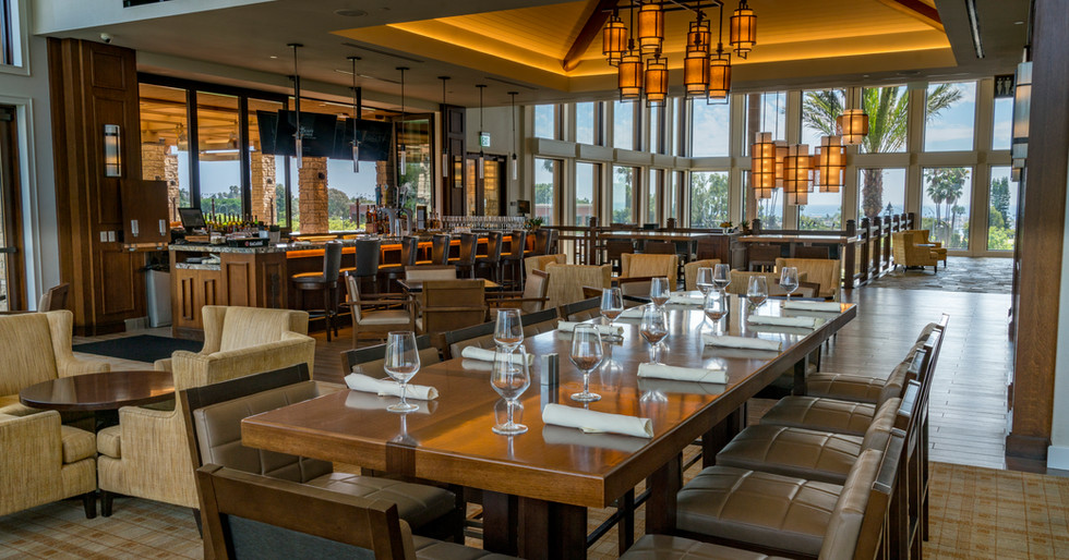 Newport Beach Country club lounge