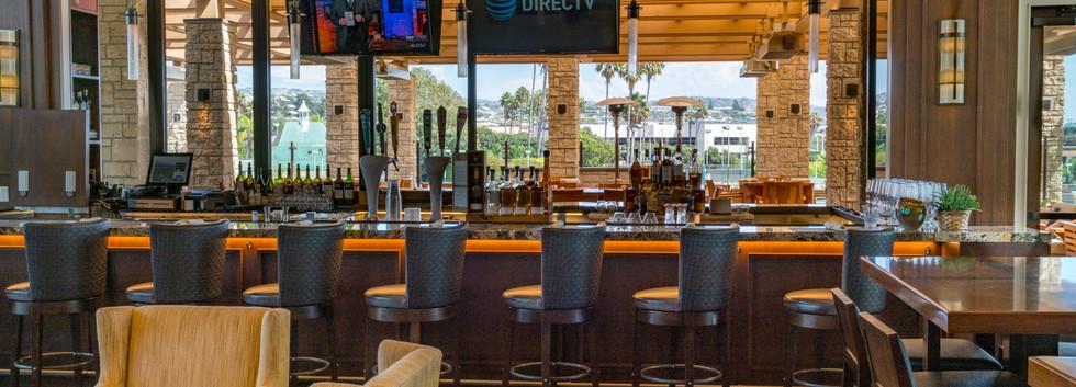 Newport Beach Country club interior bar