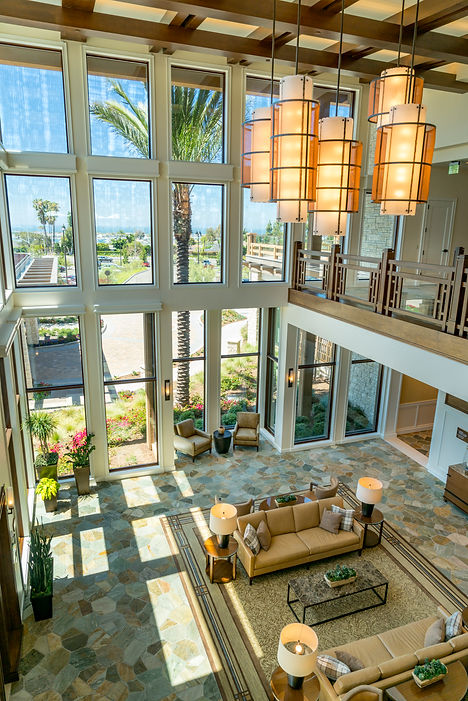 Newport Beach Country club lobby