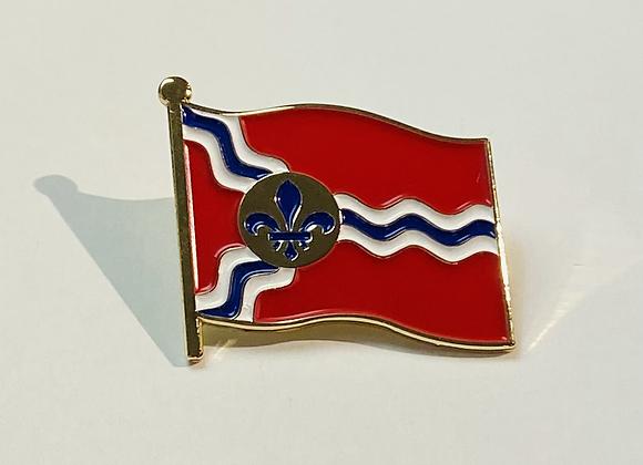 St. Louis Flag Lapel Pin