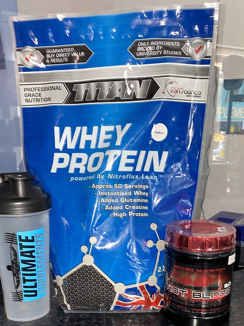 💥BUNDLE-WHEY PROTEIN SCITEC PREWORKOUT ULTIMATE SUPPLEMENTS SHAKER💥