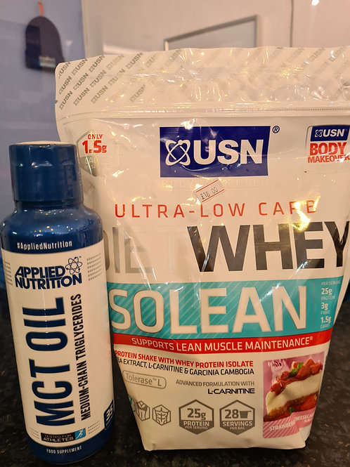 💥USN DIET WHEY ISOLEAN+APPLIED NUTRITION MCT OIL💥