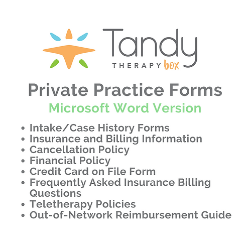 Private Practice Forms - Microsoft Word