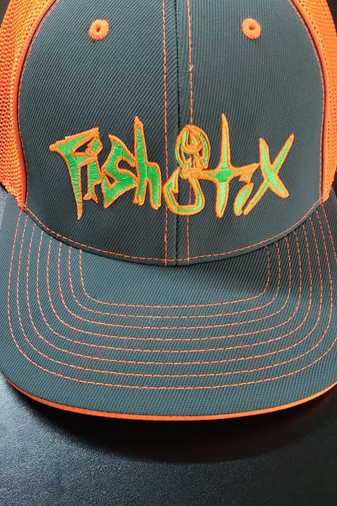FLEXFIT,NEON ORANGE HAT
