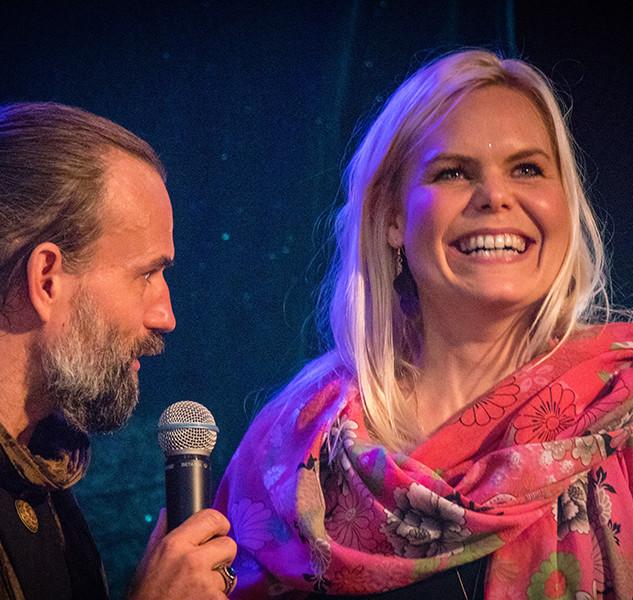 Peter Orevi, Sanna Björkebaum Stockholm Tantra Festival 2018 Foto: Olov Stadell