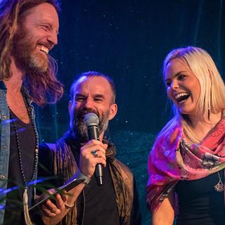 Fredrik Swahn, Peter Orevi, Sanna Björkebaum, Stockholm Tantra Festival 2018 Foto: Olov Stadell