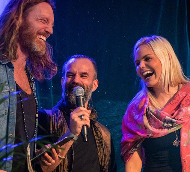 Fredrik Swahn, Peter Orevi, Sanna Björkebaum Stockholm Tantra Festival 2018 Foto: Olov Stadell