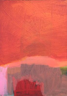 PAYSAGE ROUGE - 30 x 40 cm