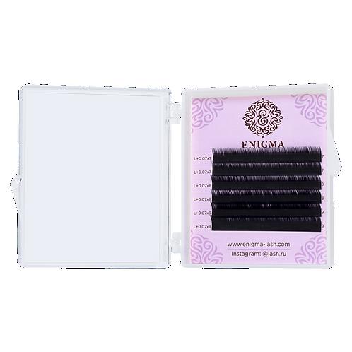 Черные ресницы Enigma Изгиб D (микс) 6 линий