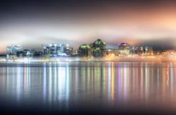 Foggy Halifax at Night