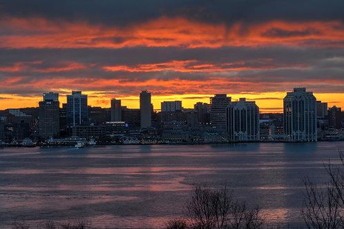 Halifax Skyline Sunset