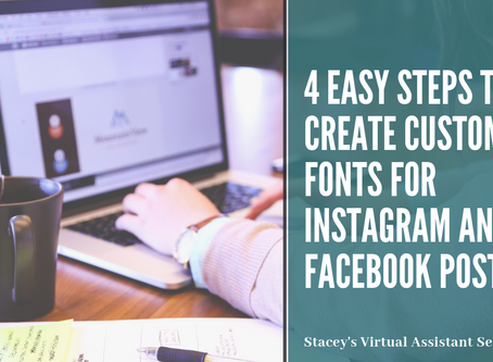 4 Easy Steps to Create Custom Fonts for Instagram and Facebook Posts