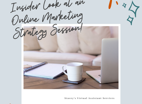 An insider look at an Online Marketing Strategy Session with a Strategy Coach - Repurposing Content