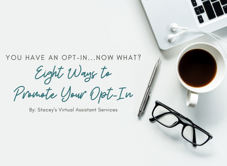 You Have an Opt-In...Now What? Eight Ways to Promote Your Opt-In and Start Growing Your List TODAY!