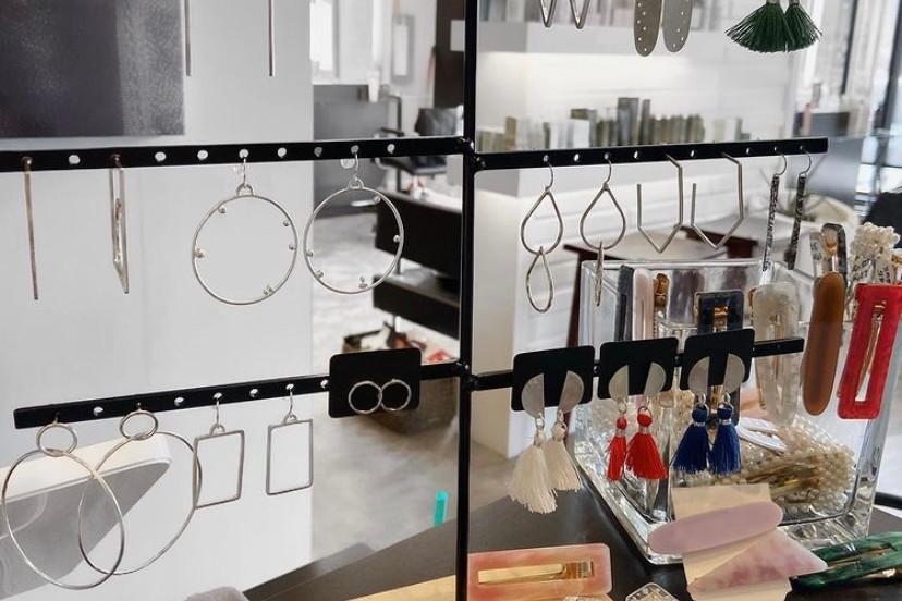 Cloth & Metal Handmade Earings