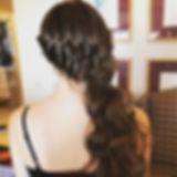 Braided side pony done by Jenna! 😍_#wed