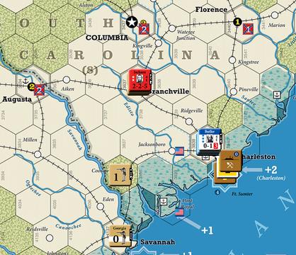 U.S. Civil War Turn 6 (Liberation of Charleston, Bragg's retreat, Hooker's advance toward Richmond)