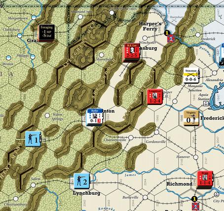 U.S. Civil War Turn 5 (Lee's Triumph at Staunton, Siege of Fort Sumter, Capture of Beaufort)
