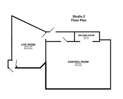 Studio 2 Floor Plan | Konk Studios