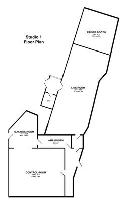 Studio 1 Floor Plan | Konk Studios