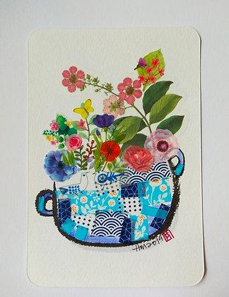 Flower Basket (Blue)