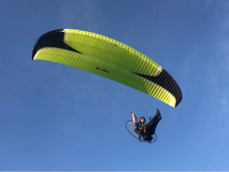 Flying the new Niviuk Qubik!  Tucker and I are loving this wing!