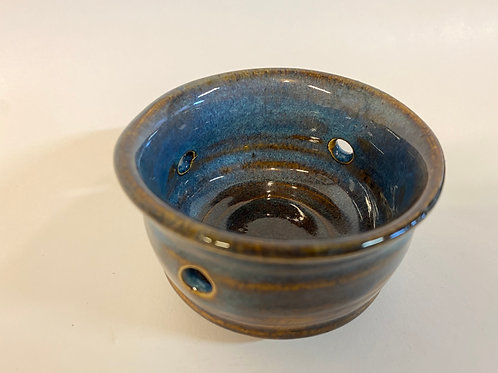 Hand Made Porcelain Blue Candleholder