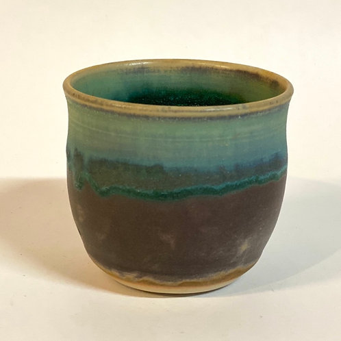 Turquoise Porcelain Cup