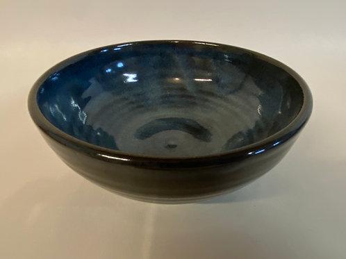 Hand Made Porcelain Blue Bowl