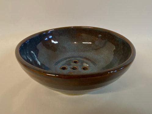 Hand Made Porcelain Blue Berry Bowl