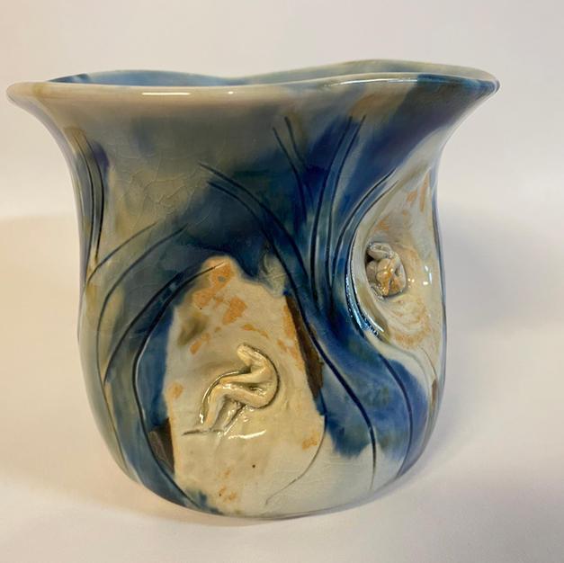 Blue Flowerpot