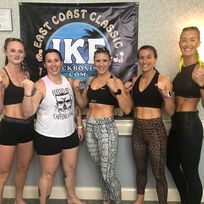 The ladies after weighing in!