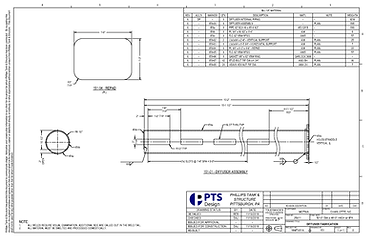 above ground storage tank 2D drawings