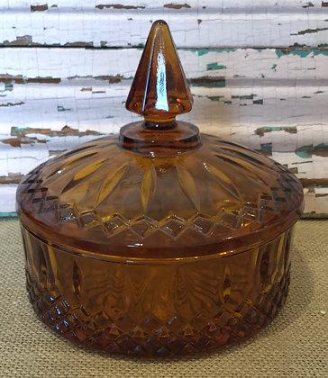 Brown Glass Dish