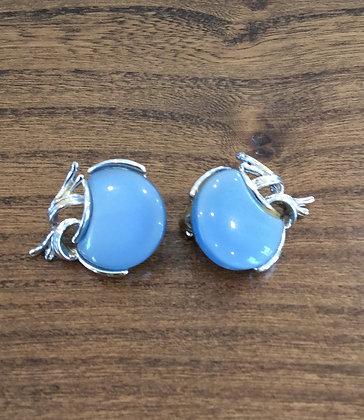Light Blue Clip On Earrings