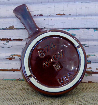 McCoy Brown Drip Handle Dish