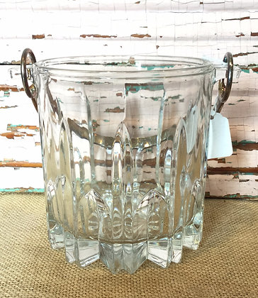 Crystal Ice Bucket (Italy) with Tongs
