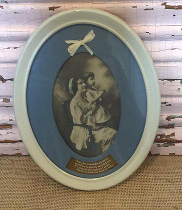 Bedtime Prayer White Frame