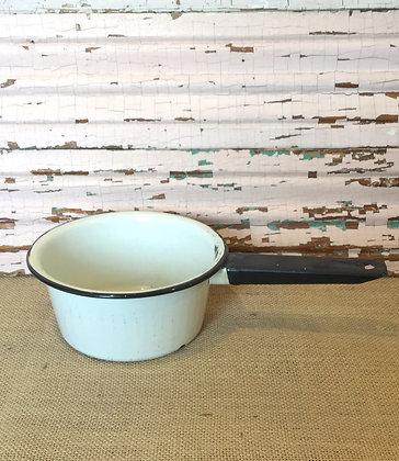 White Enamel Saucepan